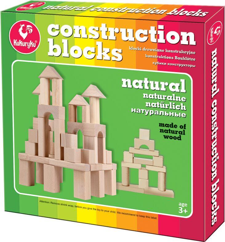 Kukuryku Klocki drewniane konstrukcyjne naturalne