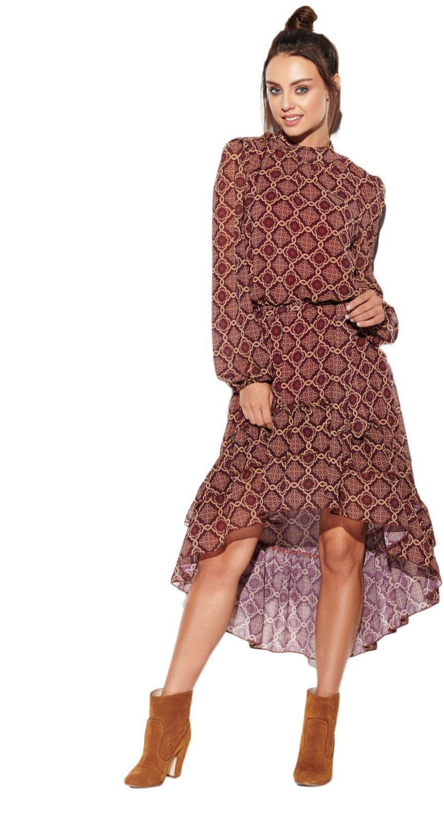 Sukienka z krótszym przodem LG504 druk 7