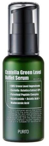 Purito Centella Green Level Buffet Serum - Odżywcze serum do twarzy z 49% ekstraktem z wąkrotki azjatyckiej 60 ml