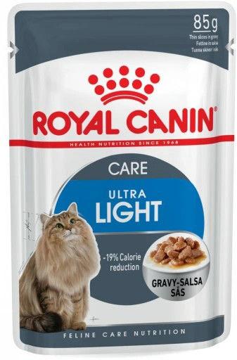 Royal Canin Ultra Light w sosie karma mokra dla kotów dorosłych z tendencją do nadwagi saszetka 85g Royal Canin Feline DLA ZAMÓWIEŃ + 99zł GRATIS!