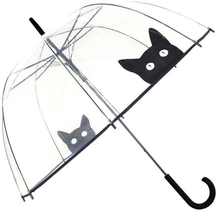 Smati - długi parasol - kot - przeźroczysty