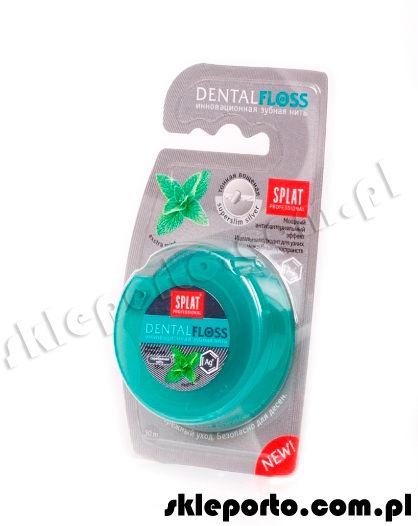 Splat Nić dentystyczna z jonami srebra - ultracienka extra miętowa 30m