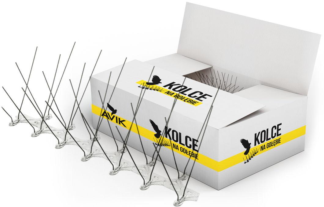 Bardzo szerokie kolce na ptaki AVIK RX240 26,6 mb. 80 modułów.
