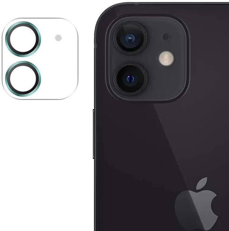 Joyroom Shining Series szkło hartowane na cały aparat obiektyw kamerę do iPhone 12 mini zielony (JR-PF686)