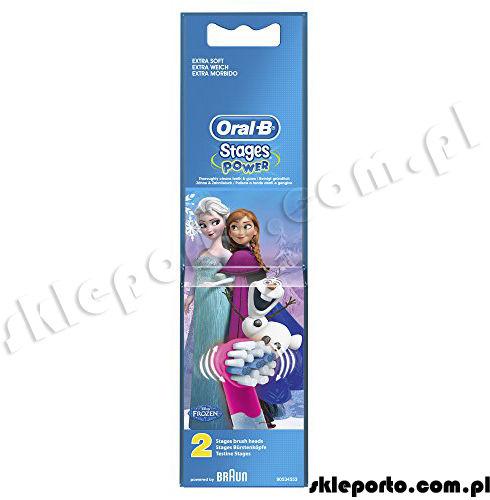 Oral-B Braun końcówki do szczoteczki dla dzieci EB-10 Frozen - 2 sztuki