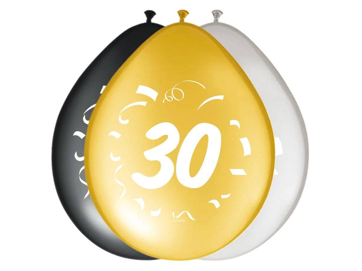 Balony z nadrukiem 30tka - 30 cm - 8 szt.