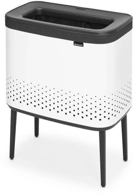 Brabantia - bo kosz na pranie, 60 l, plastikowe wieko - biały - biały