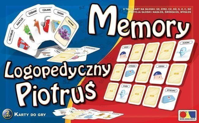 Logopedyczny Piotruś. Memory zestaw 1 - KOMLOGO