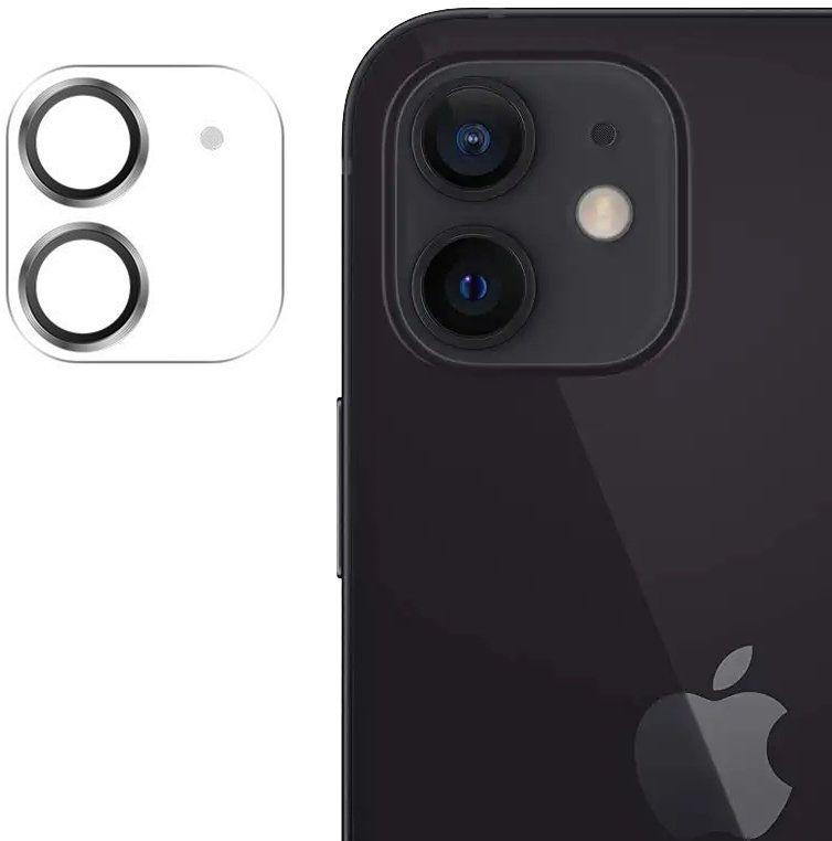Joyroom Shining Series szkło hartowane na cały aparat obiektyw kamerę do iPhone 12 mini srebrny (JR-PF686)