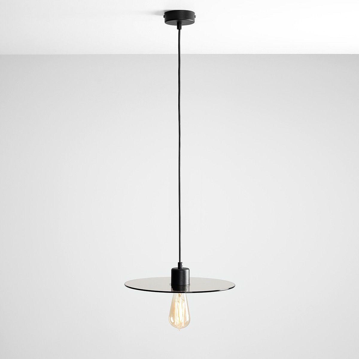 Lampa wisząca Dysk szklana nowoczesna czarna 1 punktowa 999G/D - Aldex Do -17% rabatu w koszyku i darmowa dostawa od 299zł !