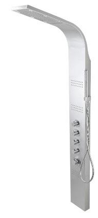 Corsan Led kaskada panel natryskowy z mieszaczem perła A-013AMPERŁA