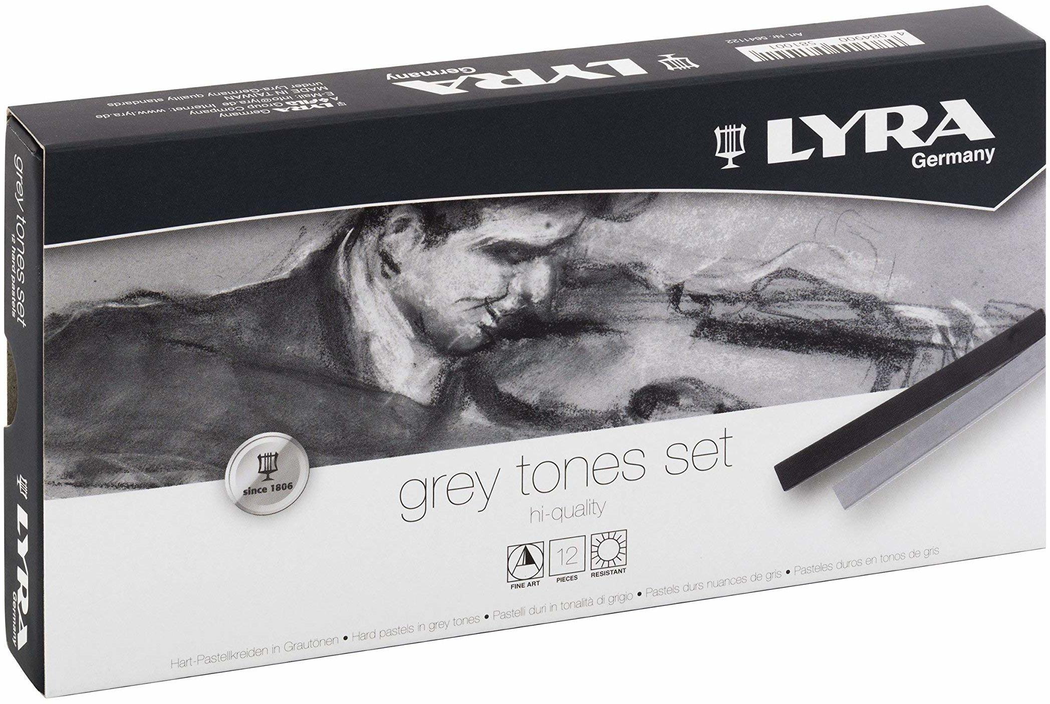 LYRA Polycrayons miękkie szare odcienie 12 pudełek