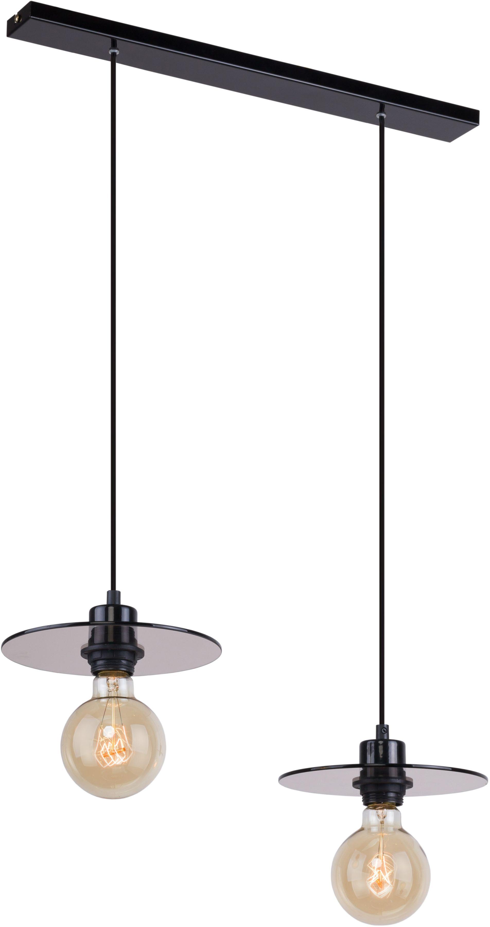 Lampa wisząca 2 punktowa Dysk czarna szklana nowoczesna 999H - Aldex Do -17% rabatu w koszyku i darmowa dostawa od 299zł !