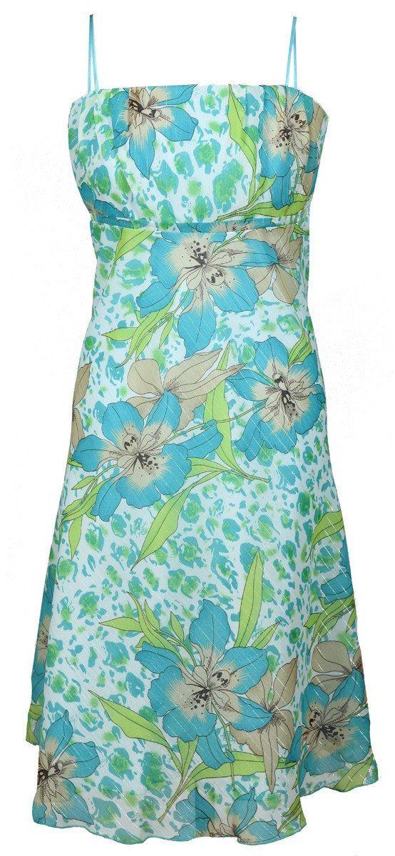 Sukienka FSU117 TURKUSOWY ZIELONY