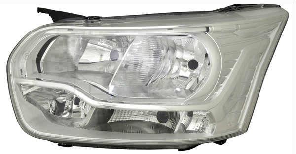reflektor halogenowy + LED Ford Transit (nowy model) - lewa strona