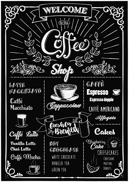 Komar Deco naklejka dekoracyjna COFFEESHOP Wymiary: 50 x 70 cm (szerokość x wysokość) tatuaż ścienny, ściana, dekoracja, naklejka, kawa, tablica - 17058h