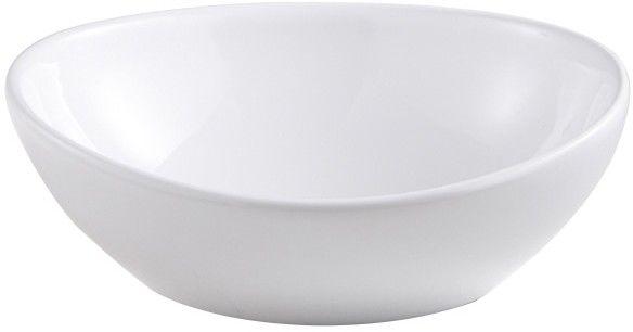 Umywalka nablatowa ceramiczna GoodHome Nessa 40 x 33 cm biała