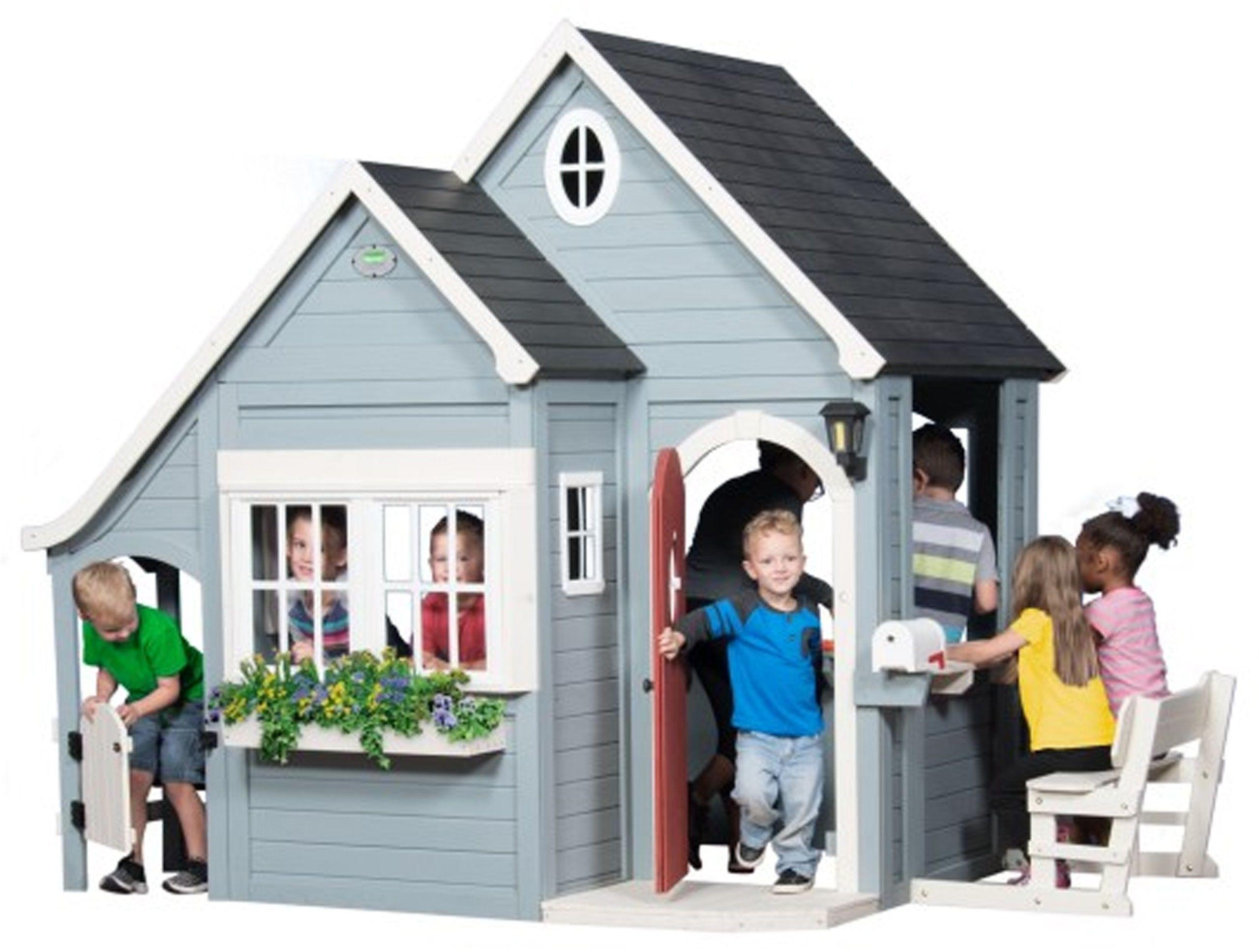 Drewniany Domek Ogrodowy dla Dzieci Wiosenny Backyard Discovery Step2