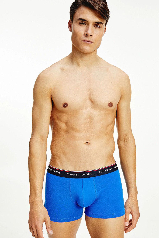 Tommy Hilfiger niebieski 3 pack bokserów 3P Trunk Electric Blue/Moon blue/Sublunar