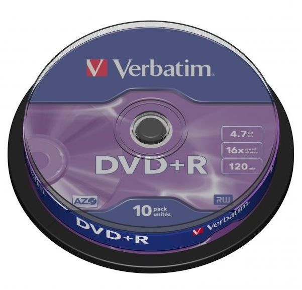 Płyty VERBATIM DVD+R 16x - 10-pack (43498)