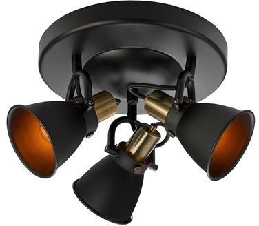 Plafon Alton 107854 Markslojd czarna potrójna oprawa sufitowa