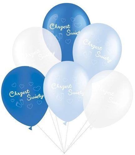 Balony Chrzest Święty niebieskie 6 sztuk 400534