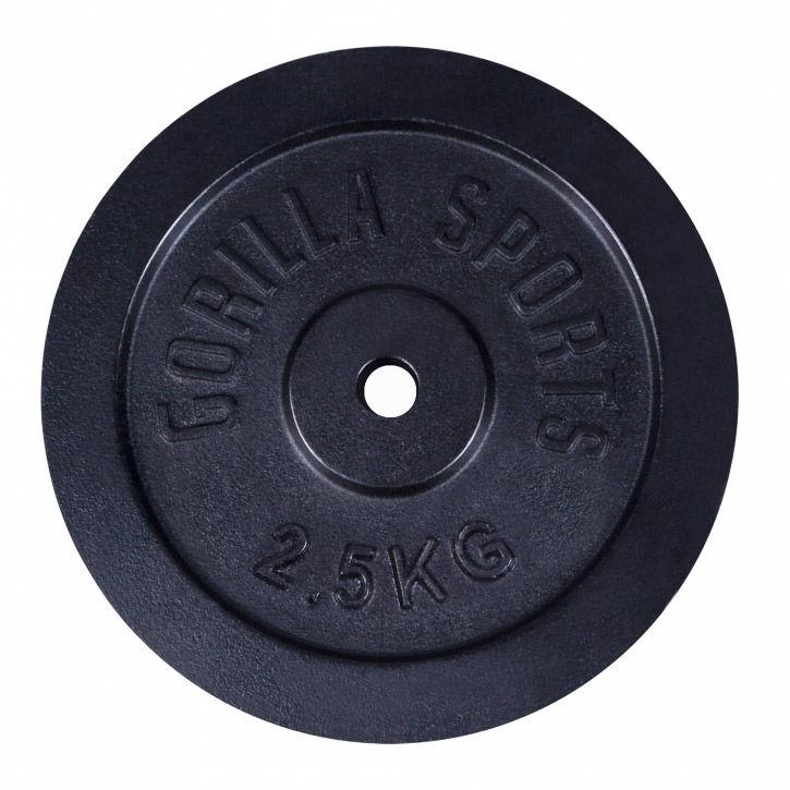 2,5 kg Obciążenie żeliwne na sztangę 30 mm Gorilla sports