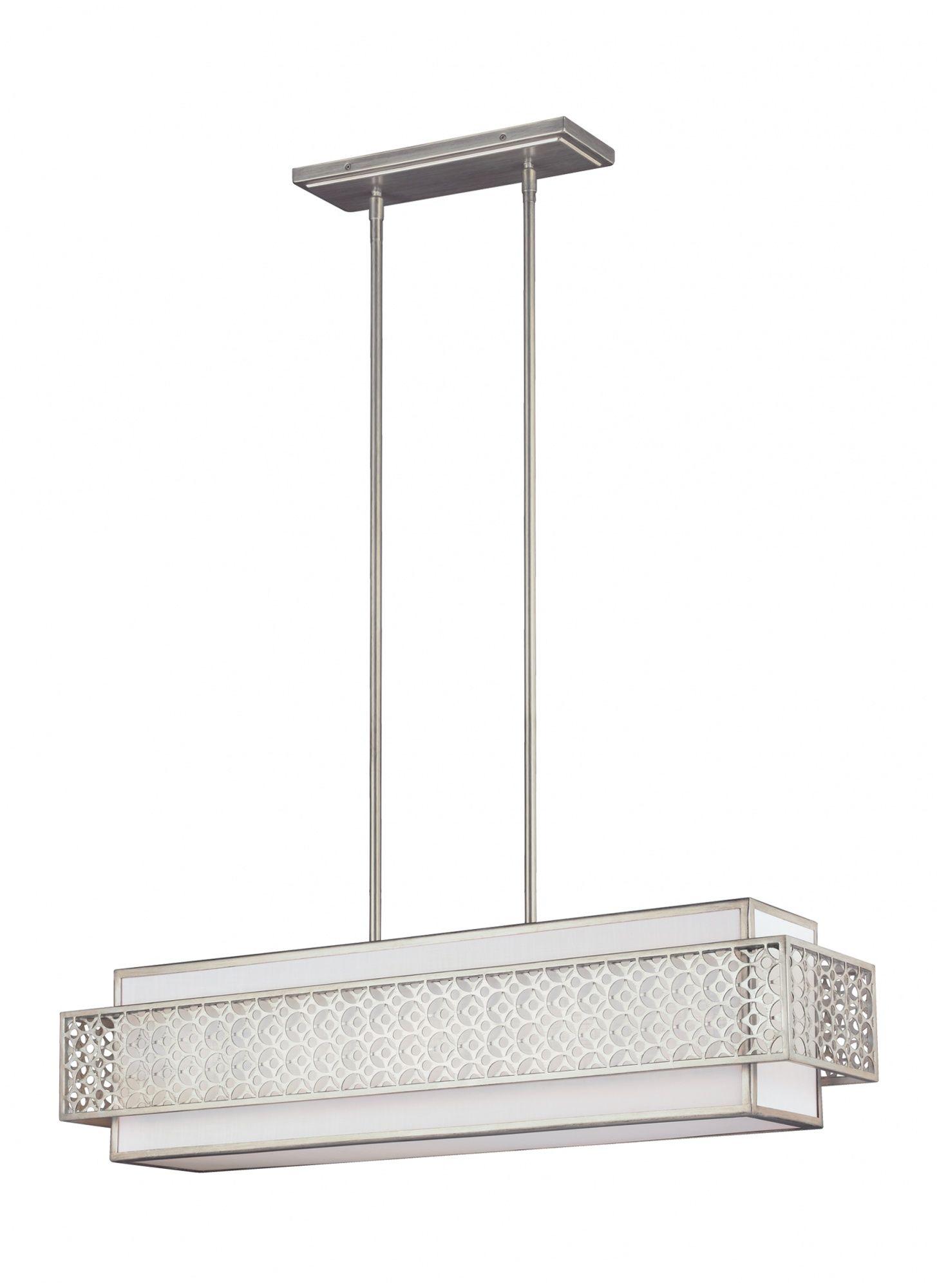 Żyrandol Kenney FE/KENNEY/ISLE Feiss srebrna oprawa w nowoczesnym stylu