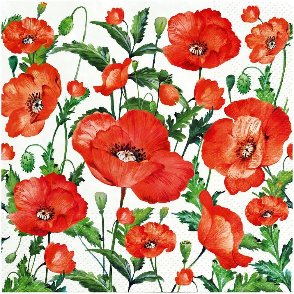 Serwetki Flanders Poppy 33 x 33 cm 20 szt.