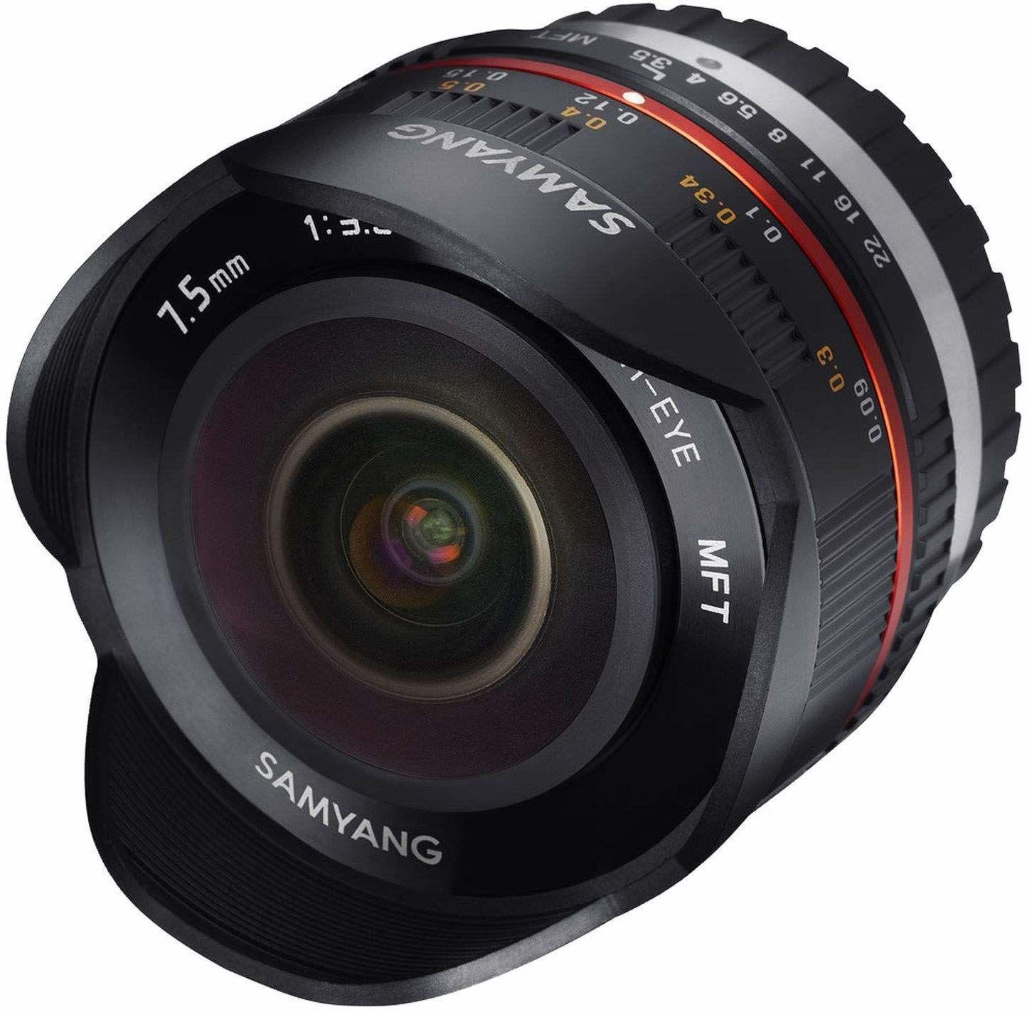 Samyang 7,5 mm rybie oko F3.5 ręczny obiektyw ostrości dla mikro4/3 - czarny