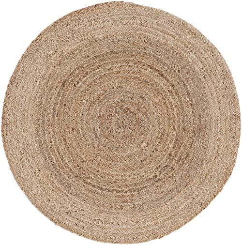 carpetfine Dywan z juty, 100% juta, beżowy, Ø 90 cm