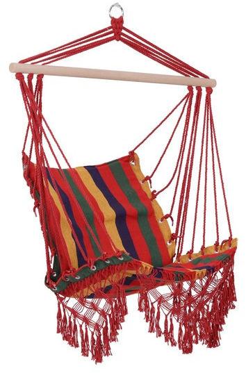 Huśtawka fotel wiszący hamak kolorowy
