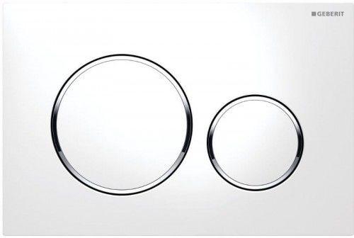 GEBERIT SIGMA20 Podwójny przycisk toaletowy, bialy/ chrom