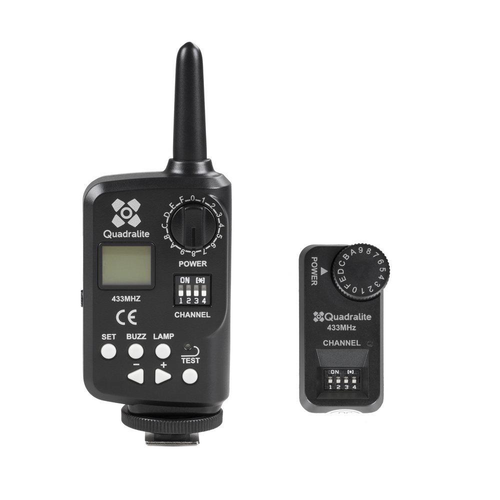 Quadralite Stroboss Navigator Kit - system radiowego wyzwalania (nadajnik + odbiornik) Quadralite Stroboss Navigator Kit