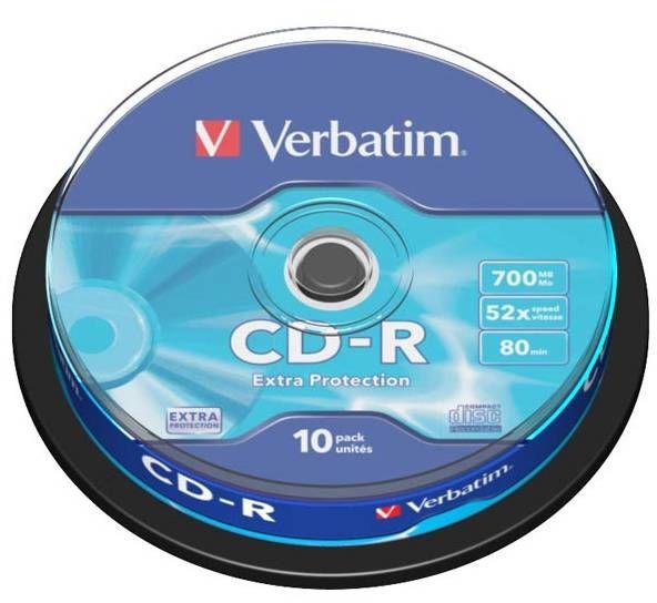Płyty VERBATIM CD-R 700MB 52x - 10-pack (43437)