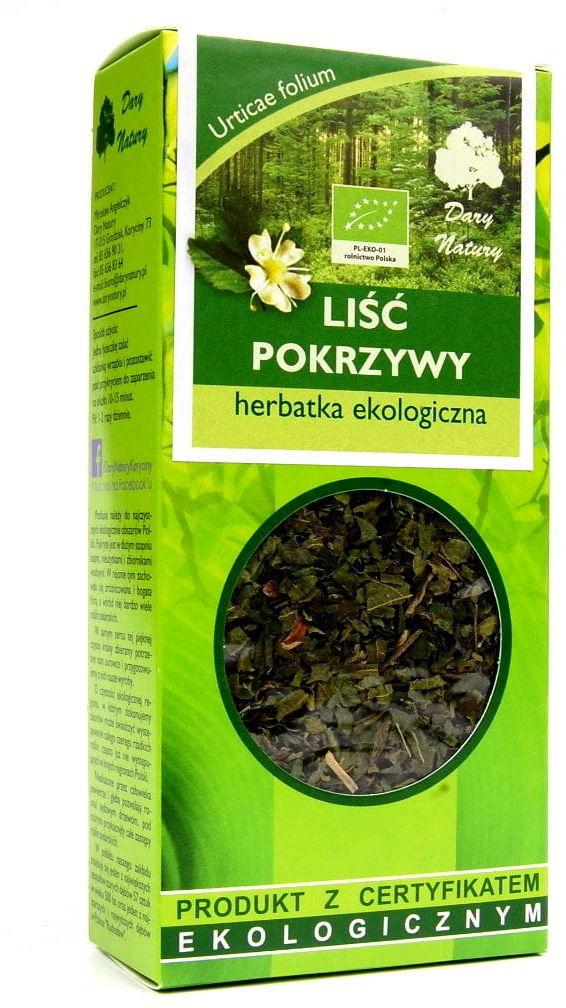 Herbatka Liść Pokrzywy BIO 25g - Dary Natury