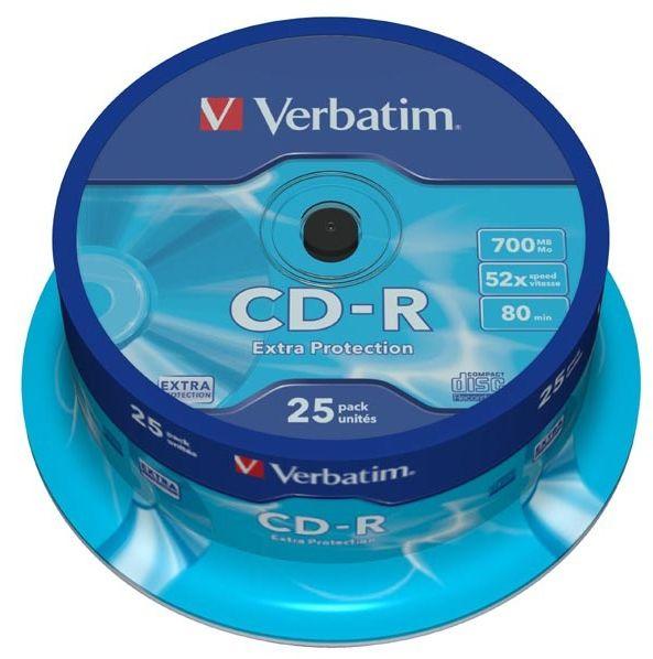 Płyty VERBATIM CD-R 700MB 52x - 25-pack (43432)