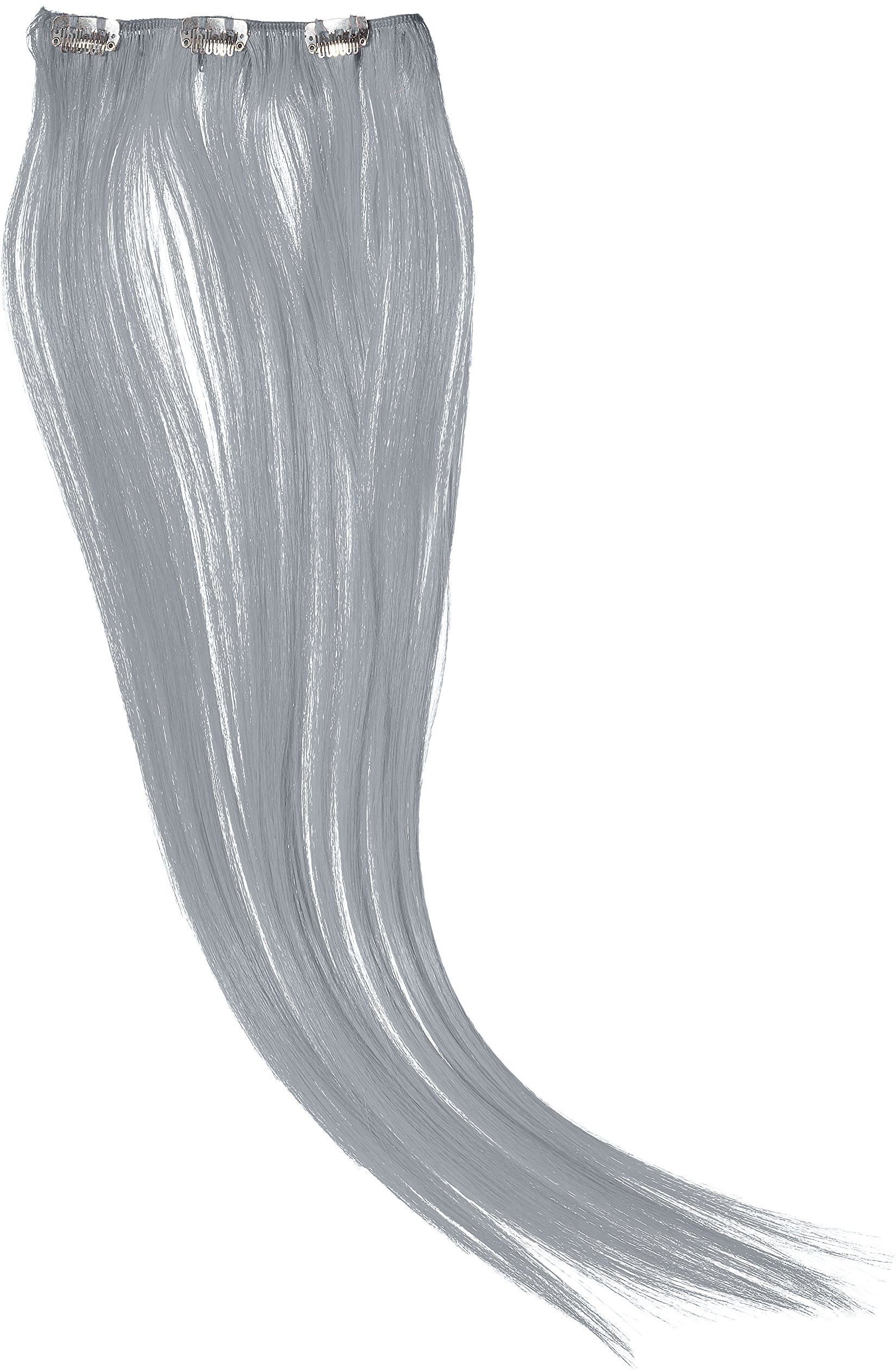 Hairaisers Clip and Go Extensions, 45 cm sztuczne włosy, białe, 1 sztuka