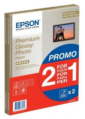Papier Epson Premium Glossy Photo Paper 255g (2x 15 ark.) (A4) (C13S042169)