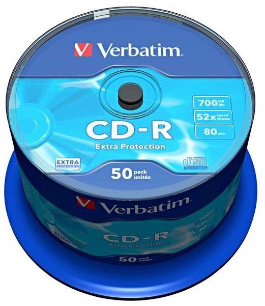 Płyty VERBATIM CD-R 700MB 52x - 50-pack (43351)