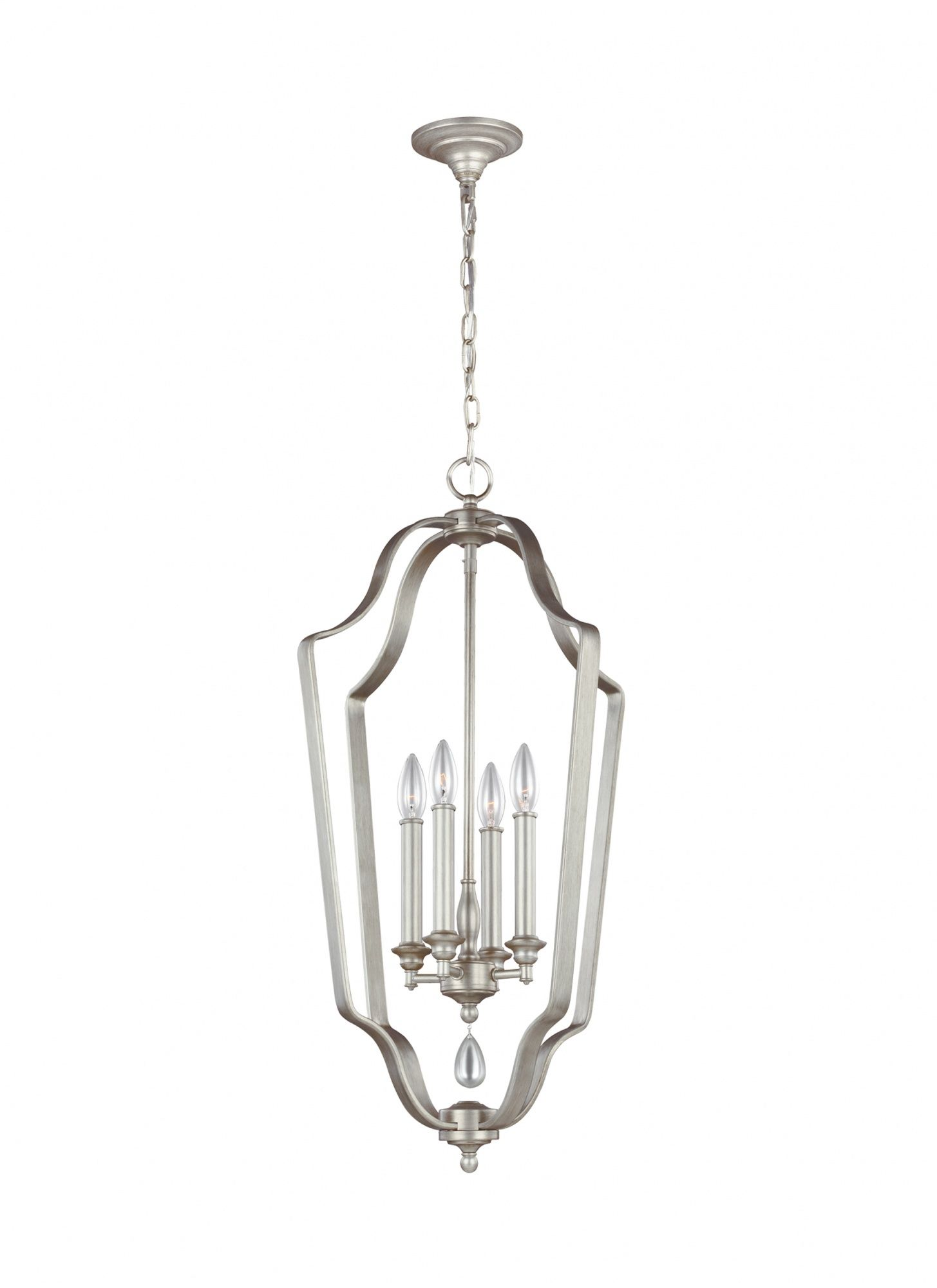 Żyrandol Dewitt FE/DEWITT/4P Feiss srebrna oprawa w dekoracyjnym stylu