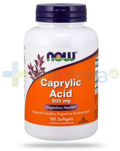 NOW Foods Caprylic Acid 600mg 100 kapsułek miękkich