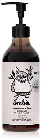 YOPE Naturalne mydło w płynie z formułą TGA Imbir i drzewo sandałowe 500 ml