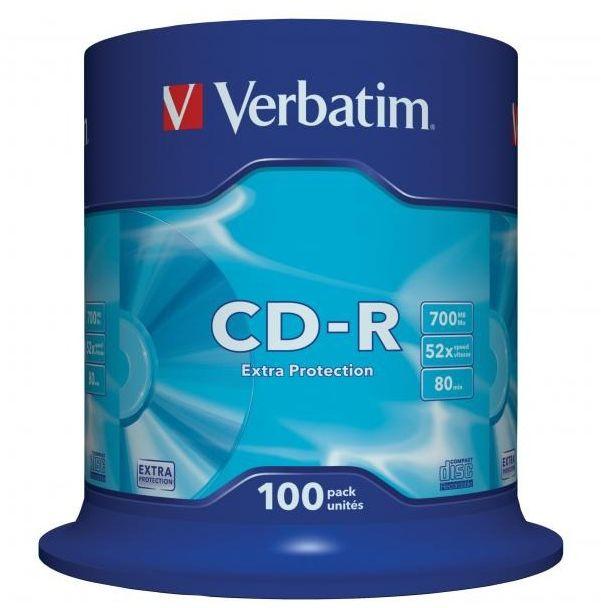 Płyty VERBATIM CD-R 700MB 52x - 100-pack (43411)
