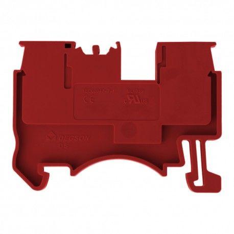 Złączka szynowa przelotowa zaciskowa czerwona 1,5mm2 1P UL 7389