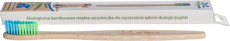 Szczoteczka do zębów dla zwierząt dużych bambusowa - myecobrush