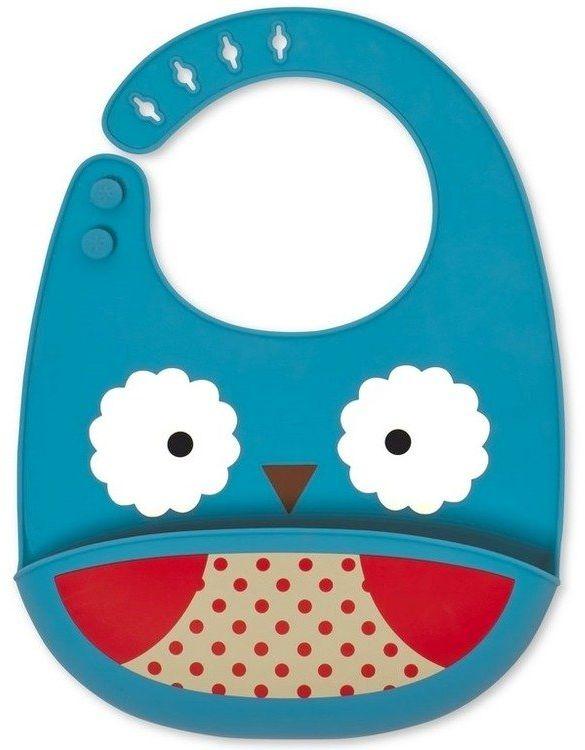 Silikonowy śliniak Zoo Sowa 232200-Skip Hop, akcesoria dla dzieci