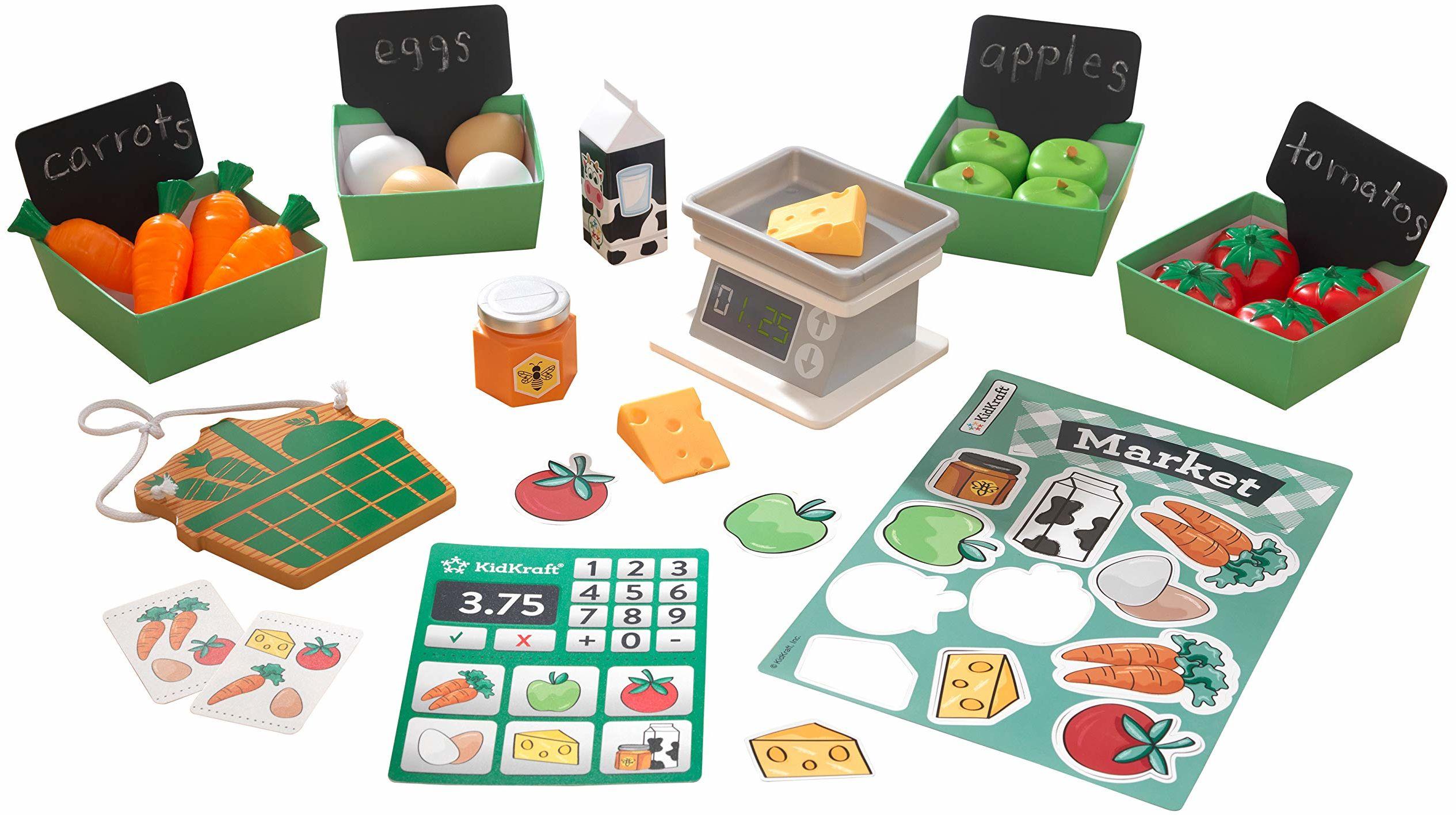 KidKraft 53540 zestaw zabawkowych akcesoriów kuchennych dla rolnika