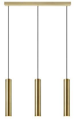 Lampa wisząca Ruben 107883 Markslojd potrójna złota oprawa wisząca