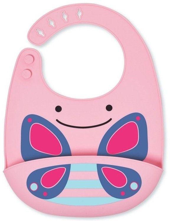 Silikonowy śliniak Zoo Motyl 232202-Skip Hop, akcesoria dla dzieci